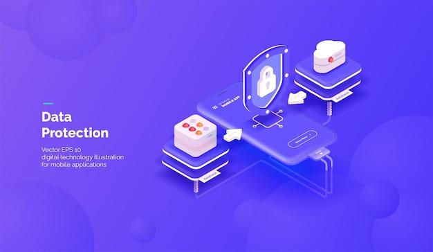 Usługa internetowa ochrony danych usługa ochrony danych dla aplikacji mobilnej