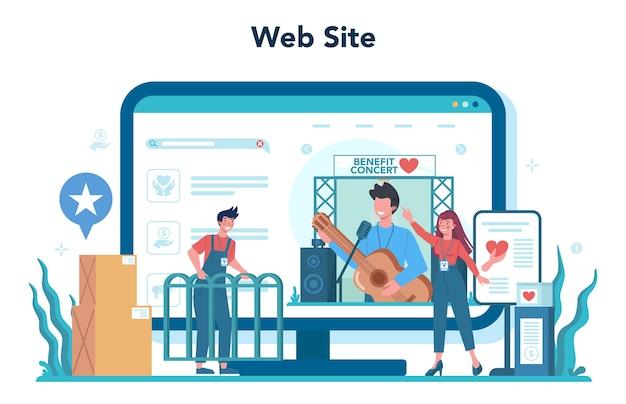 Usługa lub platforma internetowa dla wolontariuszy