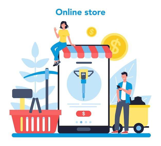 Usługa lub platforma internetowa dotycząca wydobywania węgla lub minerałów