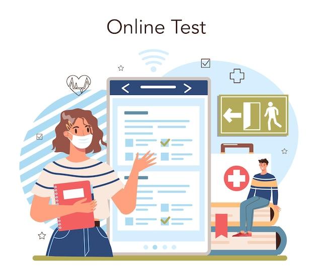 Usługa lub platforma internetowa na temat zdrowego stylu życia. idea bezpieczeństwa życia
