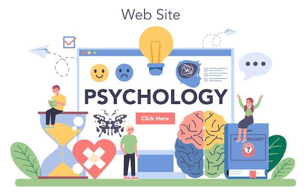 Usługa lub platforma internetowa psychologii.