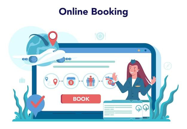 Usługa lub platforma internetowa stewardessy