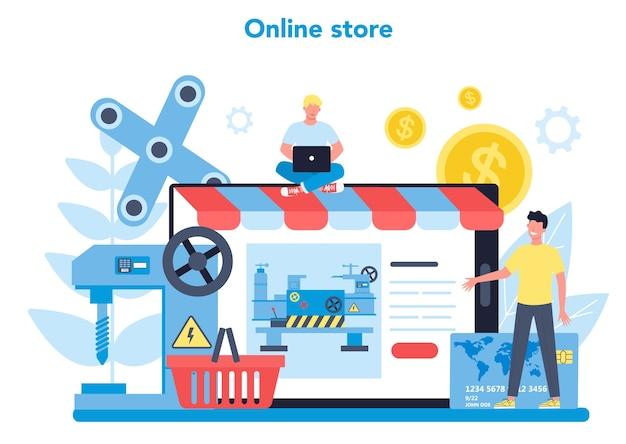 Usługa lub platforma internetowa tokarki lub tokarki