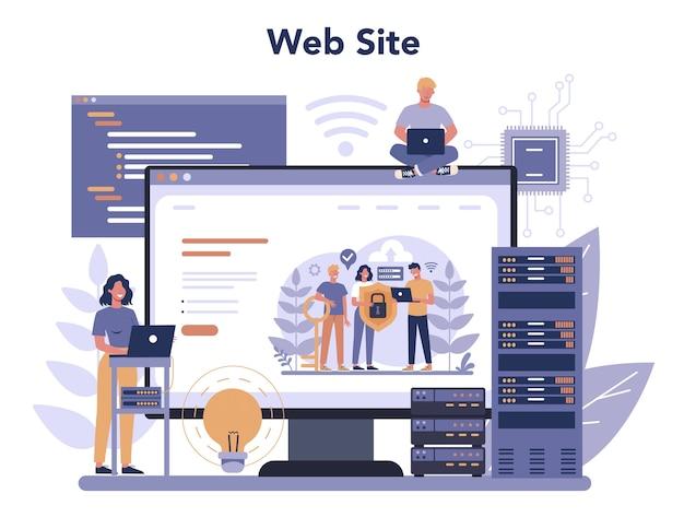 Usługa lub platforma online administratora systemu