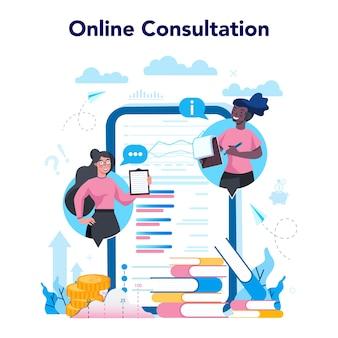 Usługa lub platforma online analityków biznesowych