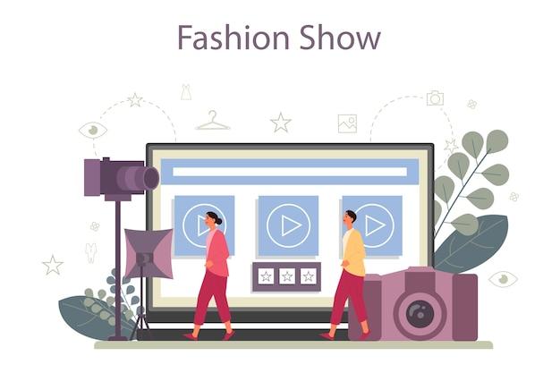 Usługa lub platforma online dla modeli mody