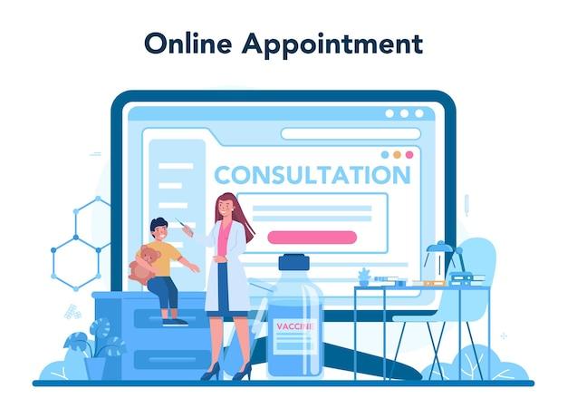 Usługa lub platforma online dla pediatrów