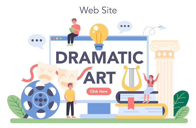Usługa lub platforma online dla zajęć teatralnych.