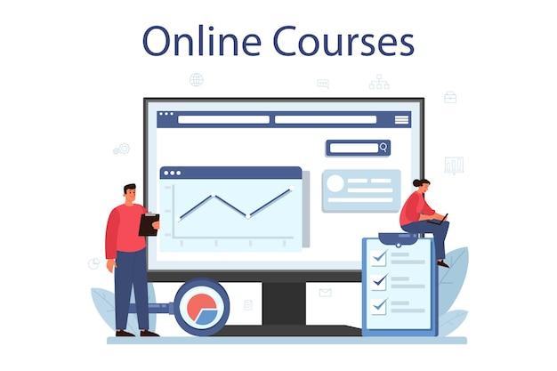 Usługa lub platforma online do analizy dużych zbiorów danych biznesowych.