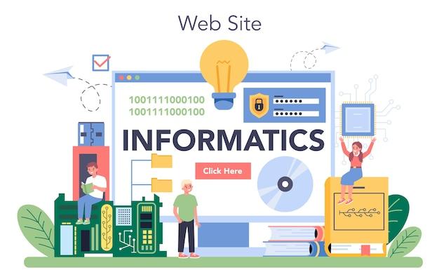 Usługa lub platforma online do edukacji informatycznej.