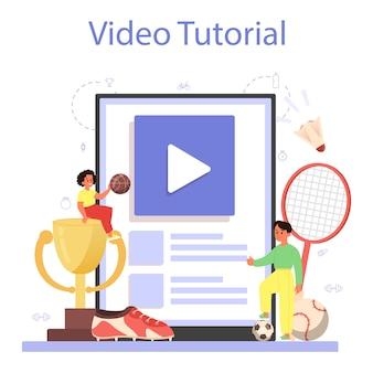 Usługa lub platforma online dotycząca wychowania fizycznego lub zajęć sportowych w szkole