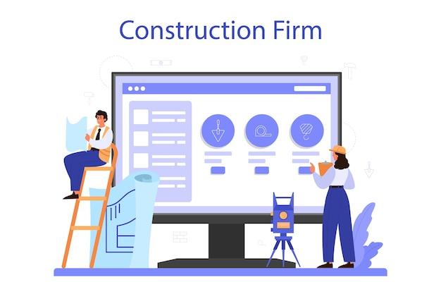 Usługa lub platforma online foreman