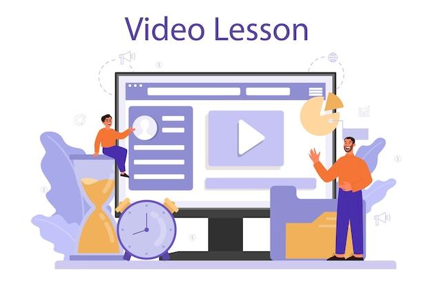 Usługa lub platforma online poświęcona edukacji zarządzania