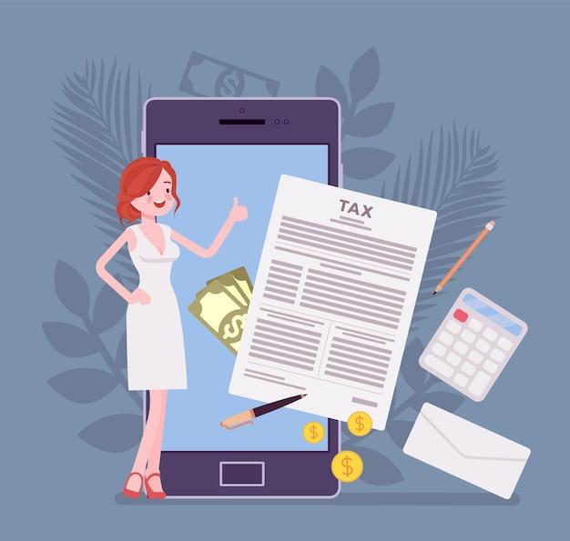 Usługa mobilnego rozliczania podatków dla bizneswoman