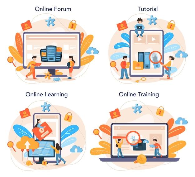 Usługa online administratora bazy danych lub zestaw platform