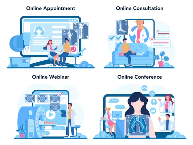 Usługa online lub zestaw platform dla radiologów.