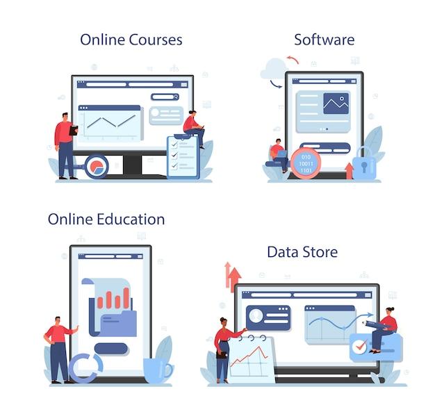 Usługa online lub zestaw platform do analizy dużych zbiorów danych biznesowych