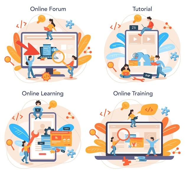 Usługa online lub zestaw platform do tworzenia zaplecza