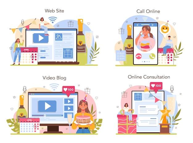 Usługa online lub zestaw platform do zarządzania wydarzeniami. święto, uroczystość