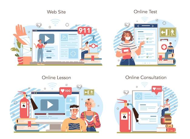 Usługa online lub zestaw platform dotyczący zdrowego stylu życia. ilustracja wektorowa