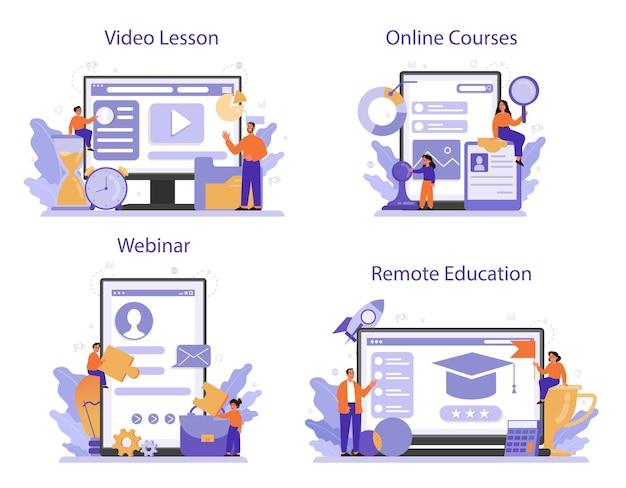 Usługa online lub zestaw platform edukacji zarządzania