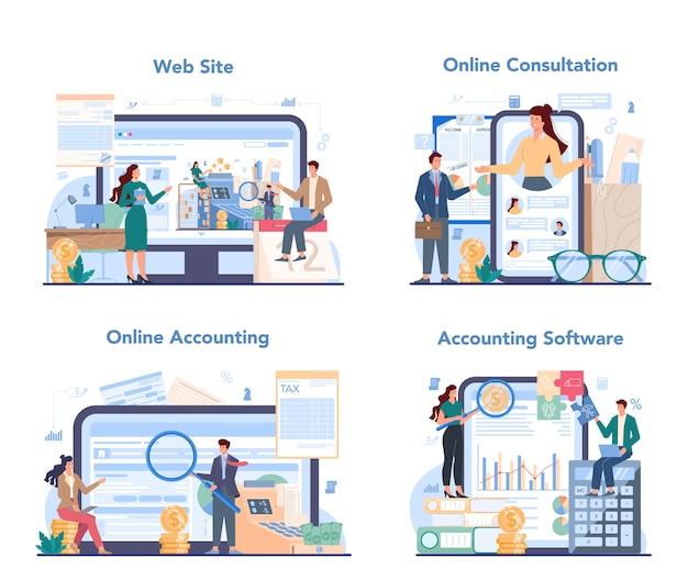 Usługa online lub zestaw platform księgowych.