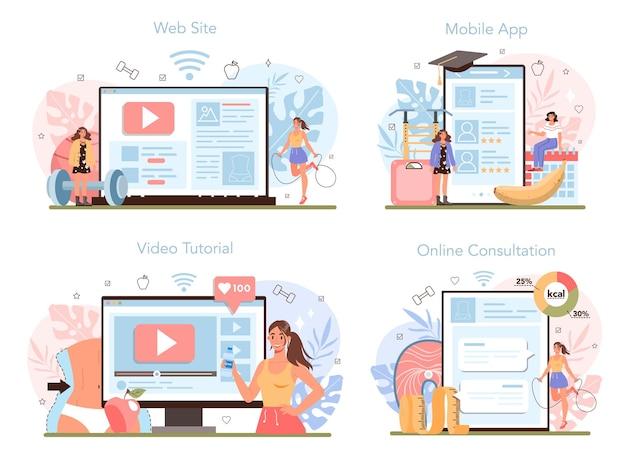 Usługa online lub zestaw platform odchudzających