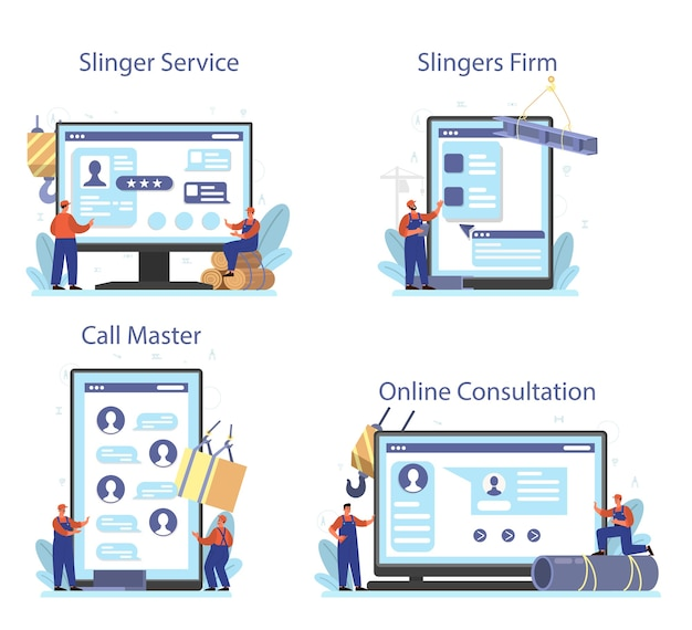 Usługa online lub zestaw platform slinger