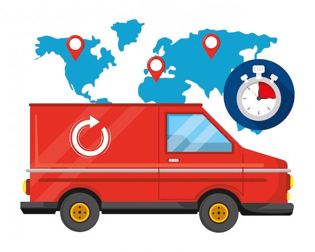 Usługa śledzenia dostawy logistyka wysyłkowa