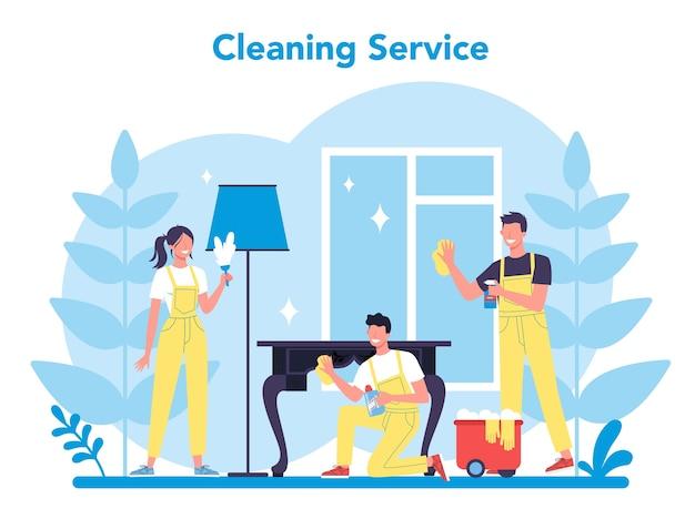 Usługa sprzątania lub firma