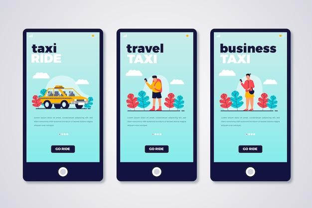 Usługa taxi dla ekranów aplikacji na pokładzie