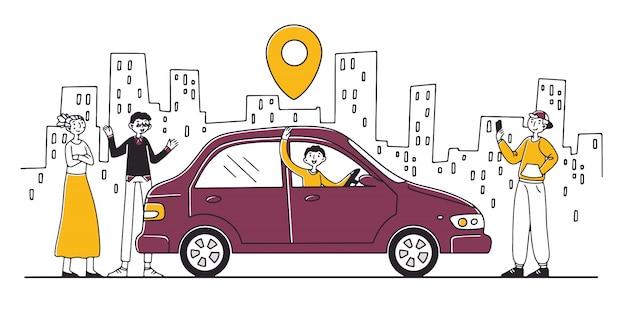 Usługa współdzielenia samochodu