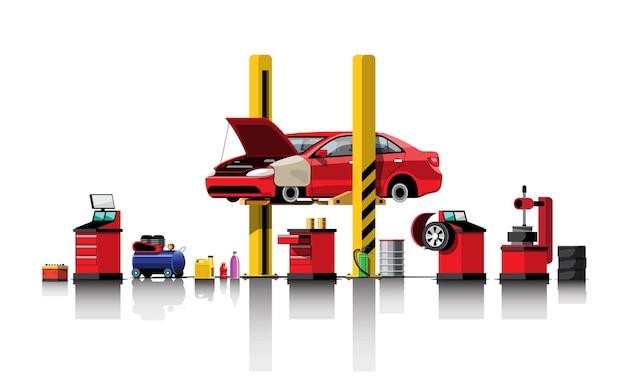 Usługi naprawy i konserwacji samochodów