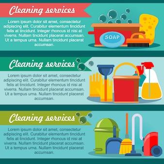 Usługi sprzątania banery poziome