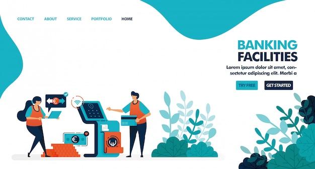 Usługi w zakresie usług bankowych, bankomatów lub bankomatów