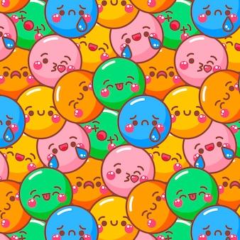 Uśmiech emotikony kolorowy wzór