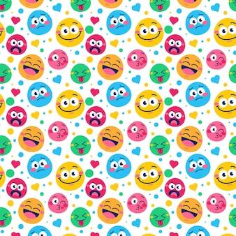 Uśmiech emotikony wzór