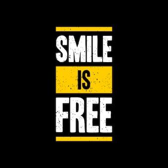 Uśmiech to bezpłatna wycena liternictwo typografia
