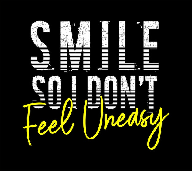 Uśmiech typografii ilustracja