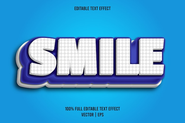 Uśmiech z edytowalnym efektem tekstowym w stylu komiksowym