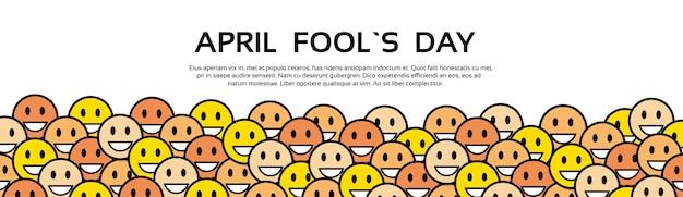 Uśmiech żółte twarze fool day april holiday