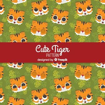 Uśmiechający się wzór tygrysa