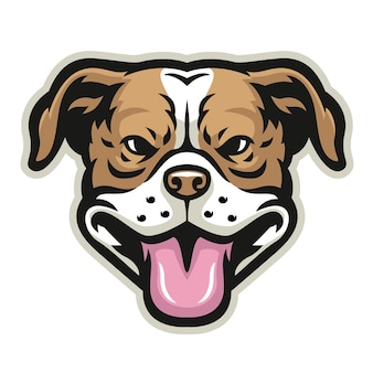 Uśmiechnięta głowa pitbulla