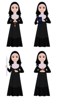 Uśmiechnięta katolicka siostra