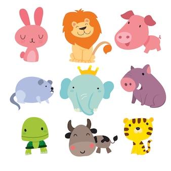 Uśmiechnięta kolekcja zwierząt
