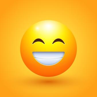 Uśmiechnięta twarz emoji ilustracja