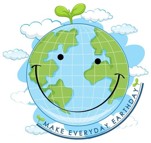 Uśmiechnięty dzień ziemi
