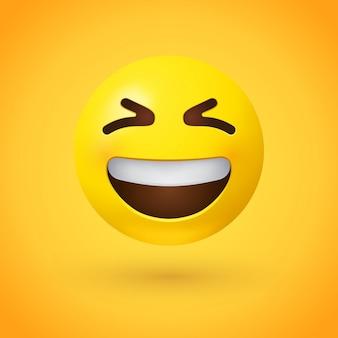 Uśmiechnięty emoji twarzy