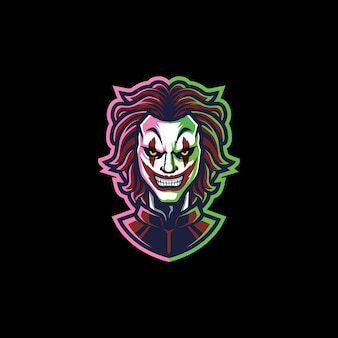 Uśmiechnięty klaun esport
