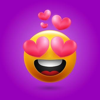 Uśmiechnięty, kochający emoji dla mediów społecznościowych